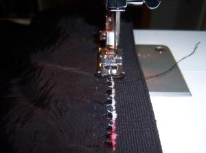 unión falda goma