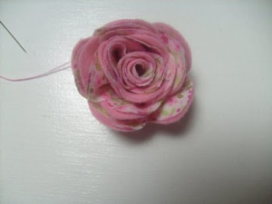 flor de tela patron 7